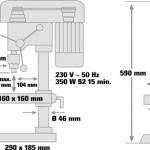 Trapano a Colonna Einhell BT-BD 401 350W S2