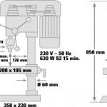 Trapano a Colonna Einhell BT-BD 701T 630W