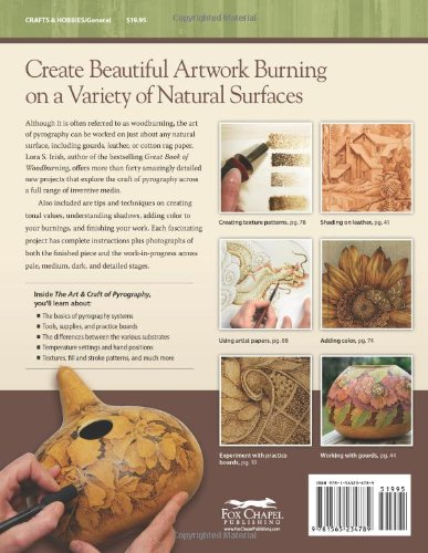 The Art & Craft of Pyrography: Drawing With Fire on Leather, Gourds, Cloth, Paper, and Wood - pirografia