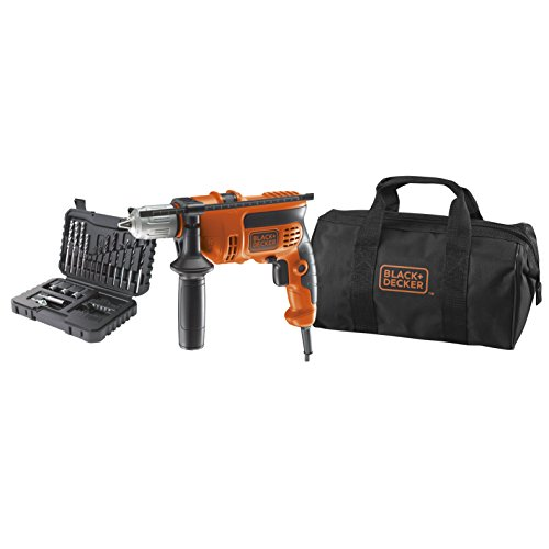 Trapano a Percussione Black & Decker KR714S32-QS 710W con Set 32 Accessori in Borsa Multiuso